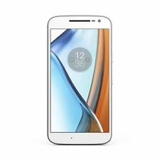 "Motorola Moto G4 Quad Core Smartphone Unlocked 16GB 5.5"" 13MP White (420415)"