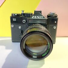 Zenit 11 35mm SLR Film Camera Kit, W/ Makinon F2.8 135mm Lens!  Lomo Vintage