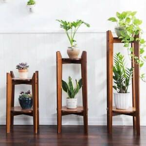 Retro Mid Century Style New Bamboo Wood Shelf Plant Stand Bookshelf