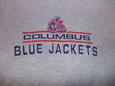 Logo Athletic Columbus Blue Jackets Crewneck Sweatshirt XXL 2XL Gray