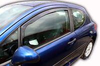 PEUGEOT 207 3 door 2006-2012  Front wind deflectors 2pc set TINTED HEKO