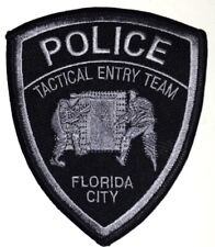FLORIDA CITY – SWAT - FLORIDA FL Sheriff Police Patch SUBDUED TACTICAL ENTRY ~