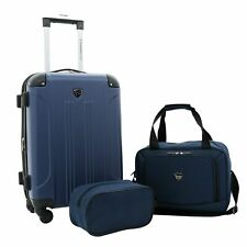 Travelers Club Chicago Plus 3PC Expanding Rolling Value Set NWT New Navy