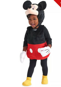 """""""DISNEY STORE """" Plush """"MICKEY MOUSE """" Costume — Age 12-18 Months - BNWT"""