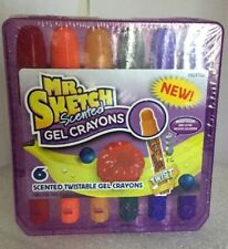 New Mr. Sketch Scented Gel Crayons 6 Scented Twistable Crayons Bright Colors -