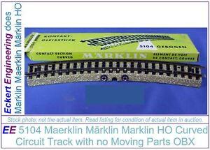 EE 5104 LN Maerklin Märklin Marklin HO Curved Circuit M Track no Moving Parts