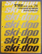 1978 SKI-DOO T'NT F/C F/A SNOWMOBILE Parts Catalog English/French 480 1082 00