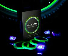 Cool MoonOn Bicycle Wireless Light System Kit Glow In The Dark Rims Wheels GREEN