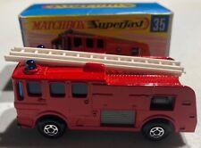 Matchbox Superfast Merryweather Fire Engine 1969 'Sullys Hobbies'
