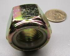 """Grade 8 Zinc Yellow Lock Nut, Rh 7/8""""-14 x 1 1/4"""" W x 63/64"""" H, 10 Pcs"""