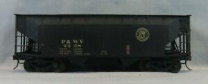 KTM US Hobbies Brass 2 Rail O Scale 2-Bay Offset P&WV 2238 Hopper - VGC