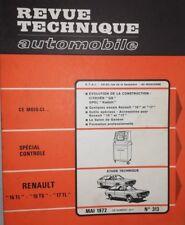 NEUVE DE STOCK Revue technique RENAULT 15 TL 15 TS 17 TL RTA N° 313 1972 R15 R17