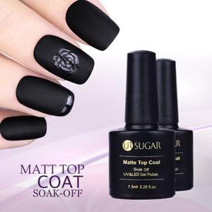 7.5ml Matt Top Coat No Wipe Soak Off UV Gellack Maniküre Gel Nagellack UR SUGAR