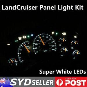 Car Dash Panel Light LED Full Kit White Bulb For Landcruiser 80 Series 1990-1998