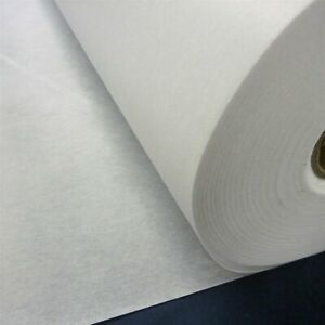 White Iron On Light Weight Fusible Interfacing 90cm Wide Great for Masks