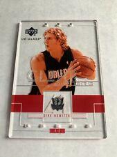 2003-04 Upper Deck Glass #100 Dirk Nowitzki Dallas Mavericks High Grade Card NBA