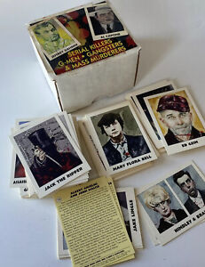 110 True Crime Trading Cards 1992 Serial Killers Gangsters series 1 & 2 eclipse