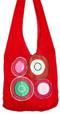 Sac Bandouliere Ethnique Sac à Main Coton Besace Ethnik Bag spirale rouge red