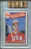 1985 Topps Baseball #401 Mark McGwire Rookie Card RC Graded BGS Gem Mint 9.5