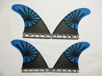 NEW Futures Quad Surfboard Fins(4 Fins) Perfect Flex with Honeycomb-Futures/Blue