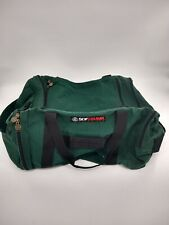 Vintage Academy Broadway Softrunk Cargo Duffle Gym Camping Bag GREEN