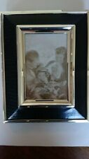 Lenox Corinthian Collection Classic Black Picture Frame Silver-plated New in Box