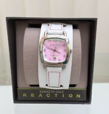 NEW Kenneth Cole Ladies WATCH White Leather Date RRP£129 Great Gift! (A64