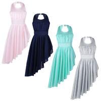 Kids Girls Lyrical Ballet Dance Dress Leotard Tops+Skirt Gymnastics Dancewear