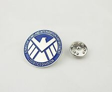 METAL BLUE MARVEL'S AGENTS OF S.H.I.E.L.D. BADGE PIN BROOCH-0509