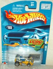 Hot Wheels 2002 #198 Go Kart Yellow,blue seat excellent card