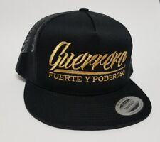 Guerrero Fuerte Y Poderoso Hat Black Mesh Trucker Snap Back Adjustable New