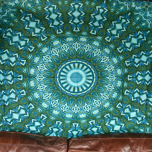 Green Wall Hanging Mandala Tapestry Hippie Tapestries Blanket Psychedelic Trippy