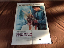 1972 Brother Sun Sister Moon Original Movie House Full Sheet Poster
