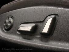 VW Tiguan Sitzembleme Edelstahl Blenden Sitz Schalter Sitzblende R-Line Emblem