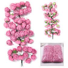144Pcs Foam Rose Heads Artificial Flowers Wedding Bride Hand Flower Party Décor