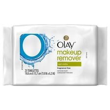 Olay Makeup Remover Wet Cloths, Fragrance-Free (25 Wipes)