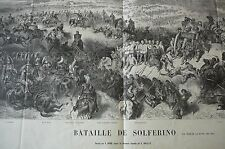 Gustave Doré Bataille de Solferino. Le Monde Illustré.  Henry Duff Linton.1859