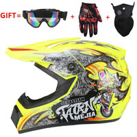Motorcross Dirt Bike ATV Off Road MTB Motorcycle Helmet Racing Full Face Yellow