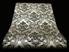5006-15-3) 1 Rôle Vinyle Papier peint baroque ornement design argent anthracite gris