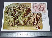 CARTE POSTALE 1er JOUR PHILATELIE 1970 CARPEAUX SCULPTEUR LE TRIOMPHE DE FLORE
