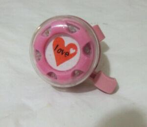 LOVE HEART PINK BIKE BELL 50mm DIAMETER for 22.2mm handlebars