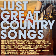 JUST GREAT COUNTRY SONGS 2CD NEW Alan Jackson Toby Keith Tim McGraw Johnny Cash