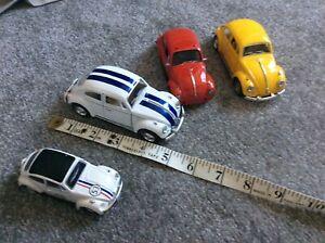 4 x VW  Beetle Diecast Toy Model Car Volkswagen Beetle Herbie bundle