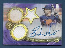 2019 Topps Triple Threads Brandon Nimmo RFPAR-BN Auto Relic New York Mets /75
