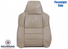 05-07 F250 4X4 Lariat 6.8L V10 GAS -PASSENGER Lean Back Leather Seat Cover Tan
