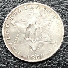 1856 Three Cent Piece Silver Trime 3c Better Grade #25690