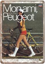 "Monami Peugeot 10 Speed Bike Ad 10"" x 7"" Reproduction Metal Sign B295"