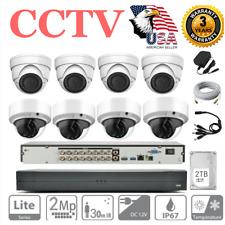 16Ch 2Tb 1080P Cctv Dvr Kit 4+4 Outdoor Security Camera Home Surveillance System