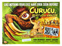 1956 CURUCU BEAST OF THE AMAZON VINTAGE MOVIE POSTER PRINT STYLE B 18x24 9MIL