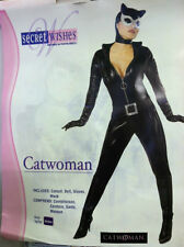 CATWOMAN ADULT COSTUME SIZE MEDIUM (10-14) SECRET WISHES BATMAN HARLEY IVY
